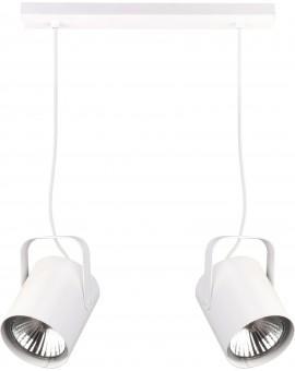 Deckenlampe Hängelampe Modern Design Metall Flesz E27 2-flg Weiß 31139
