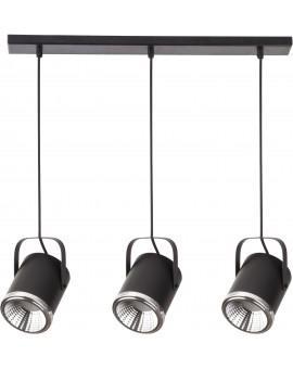 Lampa Zwis Flesz GU10 z żarówką 3 czarny 32674 Sigma
