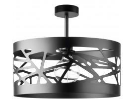 Deckenlampe Deckenleuchte Modern Design Metall Modul Frez L Schwarz 31232