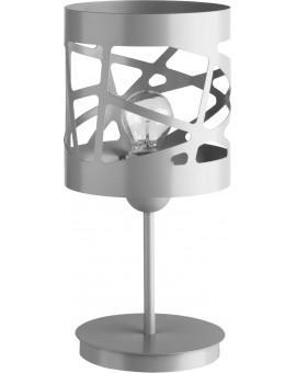 Tischlampe Nachtlampe Modern Design Metall Modul Frez Grau 50079