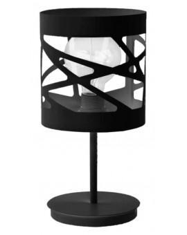 Tischlampe Nachtlampe Modern Design Metall Modul Frez Schwarz 50077
