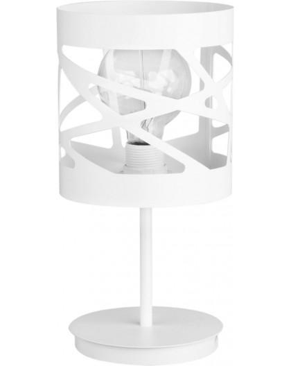 Tischlampe Nachtlampe Modern Design Metall Modul Frez Weiß 50078