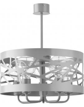 Lampa Żyrandol Moduł frez 5 szary 31241 Sigma