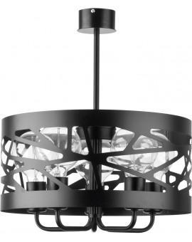 Deckenlampe Kronleuchter Modern Design Metall Modul Frez 5 Schwarz 31076
