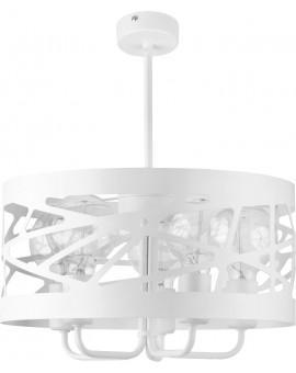 Deckenlampe Kronleuchter Modern Design Metall Modul Frez 5 Weiß 31082