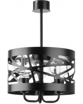 Deckenlampe Kronleuchter Modern Design Metall Modul Frez 3 Schwarz 31075