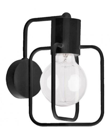 Wall lamp Aura kwadrat black połysk 31116 Sigma