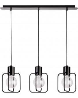 Deckenlampe Hängelampe Modern Design Aura Quadrat 3 Schwarz Glanz 31112