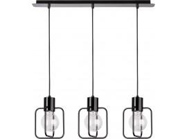 Hanging lamp Aura kwadrat 3 black połysk 31112 Sigma