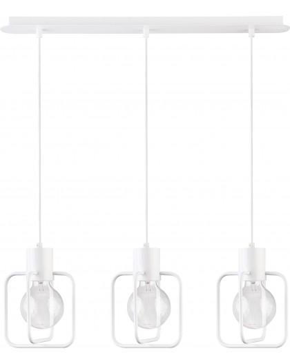 Deckenlampe Hängelampe Modern Design Aura Quadrat 3 Weiß Glanz 31123