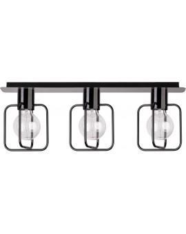 Deckenlampe Deckenleuchte Modern Design Aura Quadrat 3 Schwarz Glanz 31115