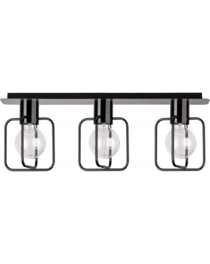 Lampa Plafon Aura kwadrat 3 czarny połysk 31115 Sigma