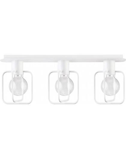 Deckenlampe Deckenleuchte Modern Design Aura Quadrat 3 Weiß Glanz 31126