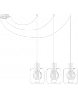 Deckenlampe Hängelampe Modern Design Aura Quadrat 3 Weiß Glanz 31118