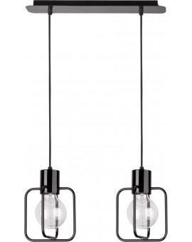 Deckenlampe Hängelampe Modern Design Aura Quadrat 2 Schwarz Glanz 31111