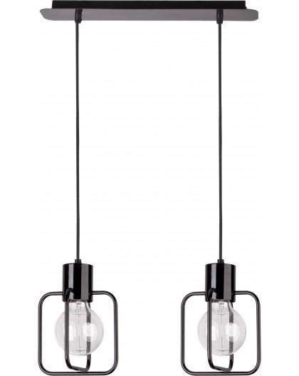 Hanging lamp Aura kwadrat 2 black połysk 31111 Sigma