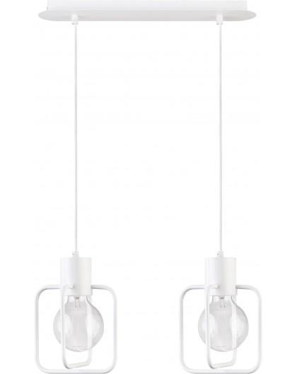 Deckenlampe Hängelampe Modern Design Aura Quadrat 2 Weiß Glanz 31122