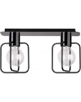Deckenlampe Deckenleuchte Modern Design Aura Quadrat 2 Schwarz Glanz 31114