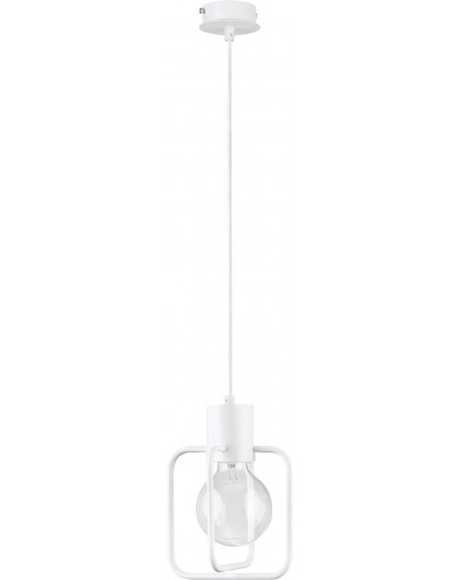 Deckenlampe Hängelampe Modern Design Aura Quadrat 1 Weiß Glanz 31121