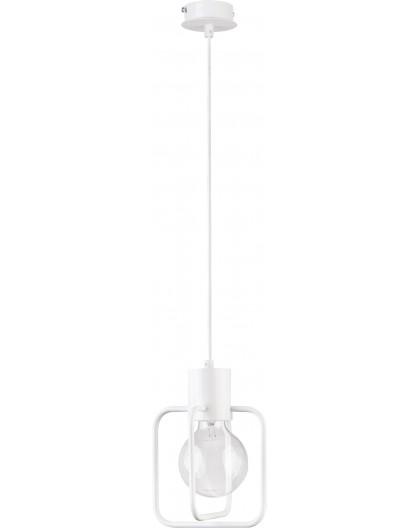 Lampa Zwis Aura kwadrat 1 biały połysk 31121 Sigma