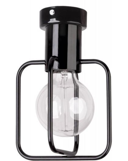 Lampa Plafon Aura kwadrat 1 czarny połysk 31113 Sigma