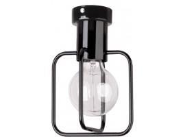Deckenlampe Deckenleuchte Modern Design Aura Quadrat 1 Schwarz Glanz 31113