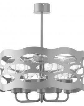 Lampa Żyrandol Moduł rol 5 szary 31229 Sigma