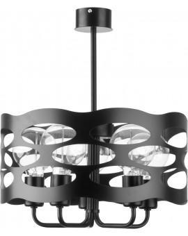 Lampa Żyrandol Moduł rol 5 czarny 31064 Sigma