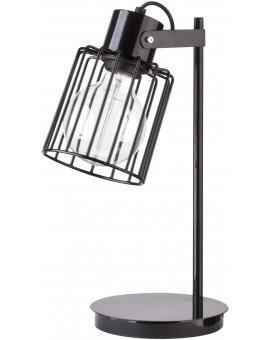 Lampa biurkowa Luto kwadrat czarny połysk 50084 Sigma