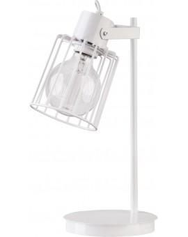 Tischlampe Nachtlampe Drahtlampe Design Metall Luto Weiß 50085