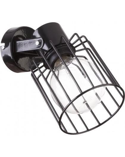 Wandlampe Wandleuchte Drahtlampe Design Metall Luto Schwarz 31138