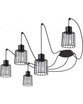 Hanging lamp Luto kwadrat 5 black połysk 31130 Sigma