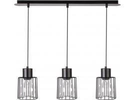 Hanging lamp Luto kwadrat 3 black połysk 31134 Sigma