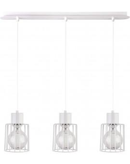 Deckenlampe Hängelampe Drahtlampe Design Metall Luto 3-flg Weiß 31145