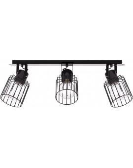 Lampa Plafon Luto kwadrat 3 czarny połysk 31137 Sigma