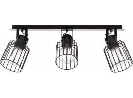 Lampa Plafon Luto kwadrat 3 czarny 31137 Sigma