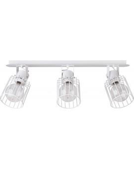 Deckenlampe Deckenleuchte Drahtlampe Spot Design Metall Luto 3-flg Weiß 31148