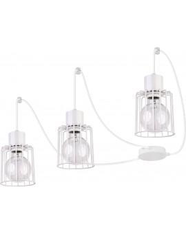 Lampa Zwis Luto kwadrat 3 biały połysk 31140 Sigma