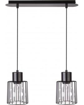 Hanging lamp Luto kwadrat 2 black połysk 31133 Sigma