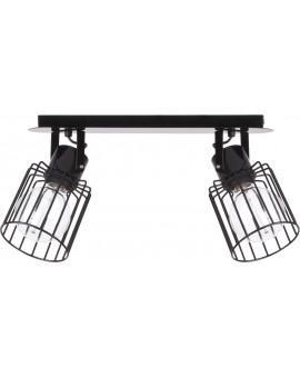 Lampa Plafon Luto kwadrat 2 czarny połysk 31136 Sigma
