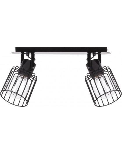 Deckenlampe Deckenleuchte Drahtlampe Spot Design Metall Luto 2-flg Schwarz 31136