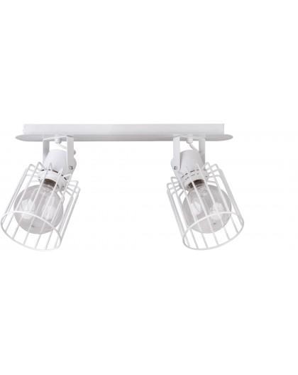 Deckenlampe Deckenleuchte Drahtlampe Spot Design Metall Luto 2-flg Weiß 31147