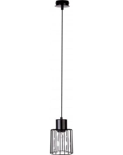 Hanging lamp Luto kwadrat 1 black połysk 31132 Sigma