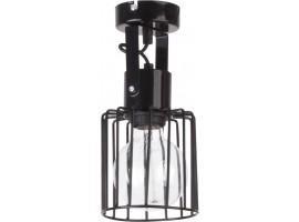 Ceiling lamp Luto kwadrat 1 black połysk 31135 Sigma