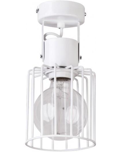 Deckenlampe Deckenleuchte Drahtlampe Spot Design Metall Luto 1-flg Weiß 31146