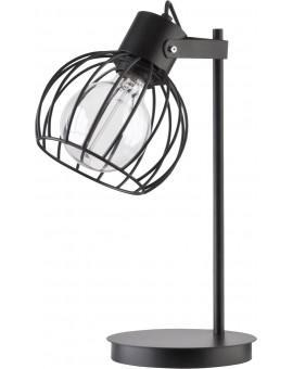 Tischlampe Nachtlampe Drahtlampe Design Metall Luto Schwarz Matt 50086