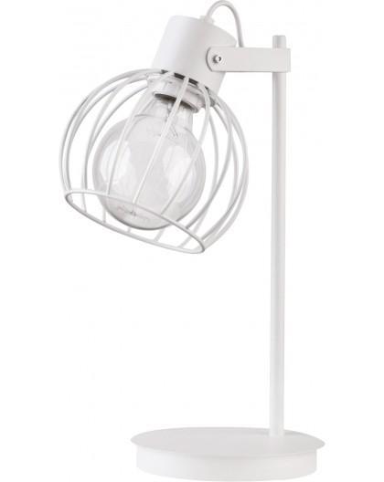 Tischlampe Nachtlampe Drahtlampe Design Metall Luto Weiß 50087