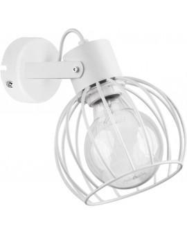 Wandlampe Wandleuchte Drahtlampe Design Metall Luto Weiß 31171
