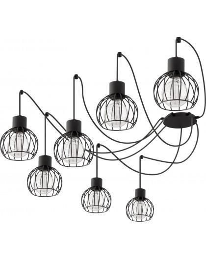 Hanging lamp Luto round 7 black mat 31153 Sigma