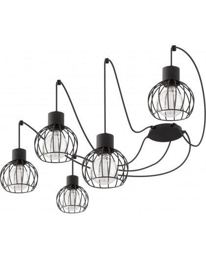 Hanging lamp Luto round 5 black mat 31152 Sigma